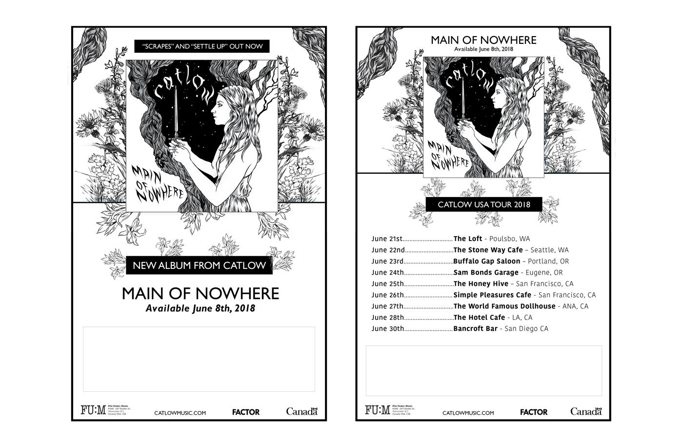File Under: Music -  Catlow - Album Poster - Tour Poster