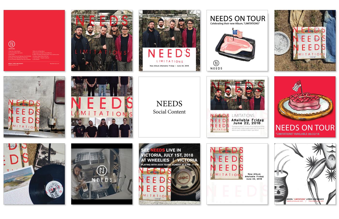 File Under: Music -  NEEDS - Album Photography - Digital Assets for Social Media