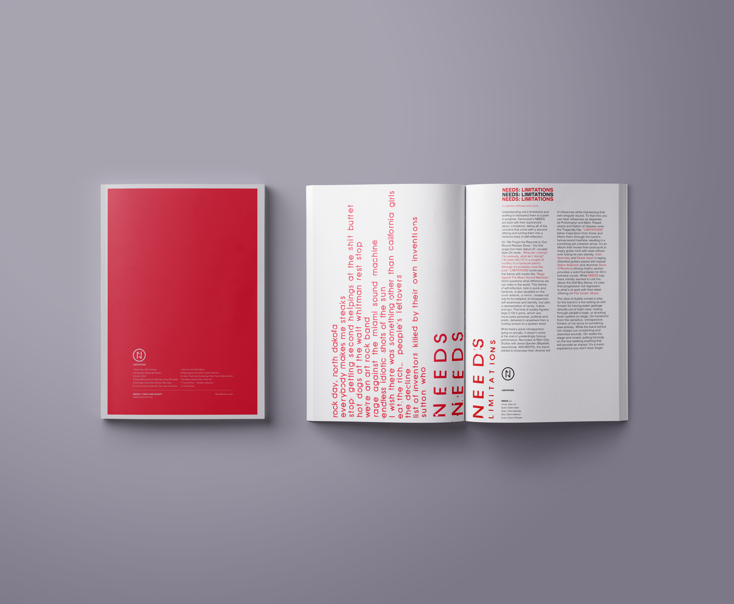 File Under: Music -  NEEDS - Lyric Book - 27 Pages