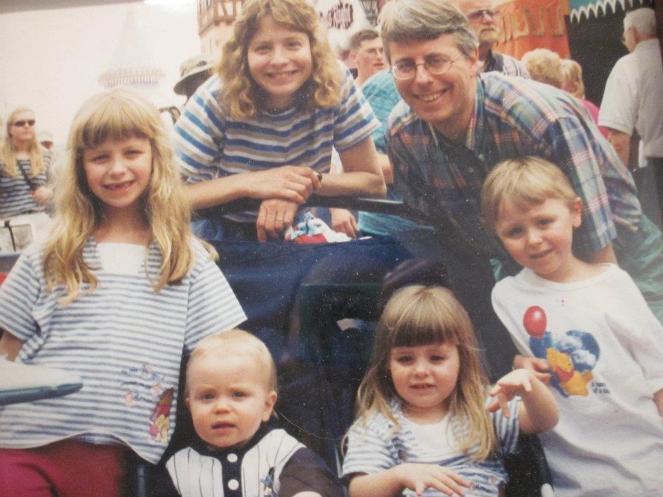 The Meosky family at Disney World, c. 1999
