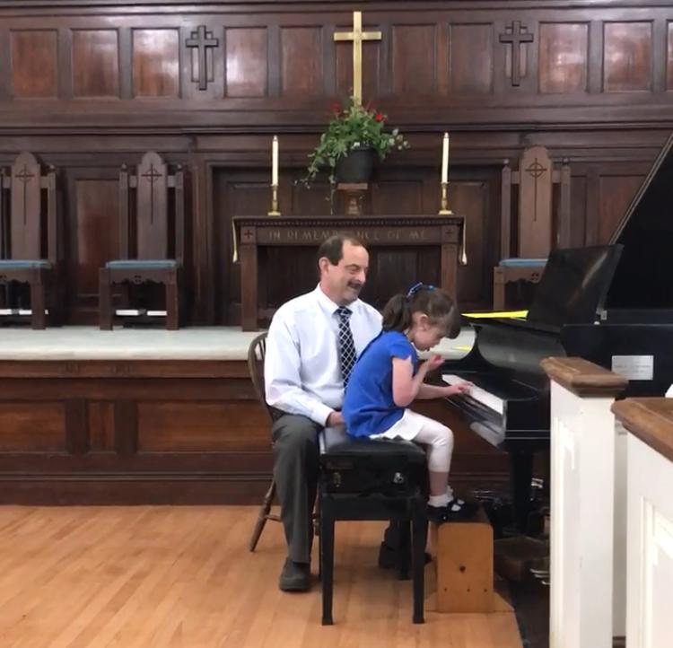 Mila at her recent piano recital