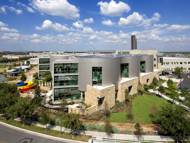 Aerial view of Dell Children's, our 2nd center