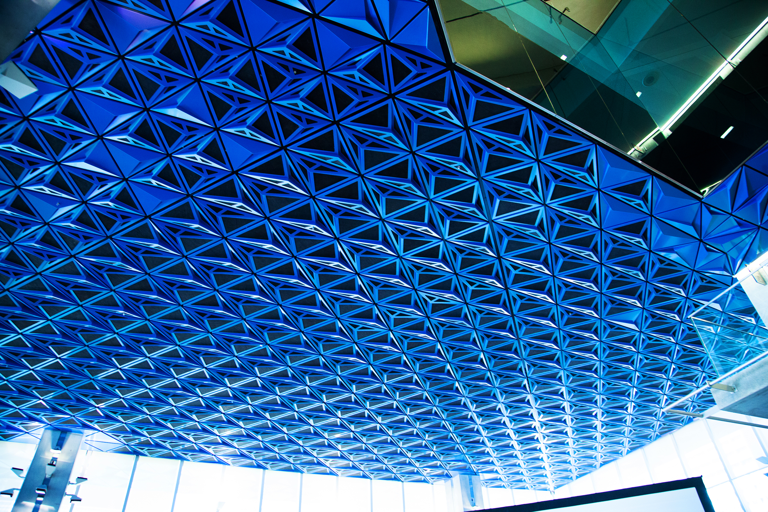 Hand Folded Metal Panels provide a beautiful futuristic looking ceiling to look at
