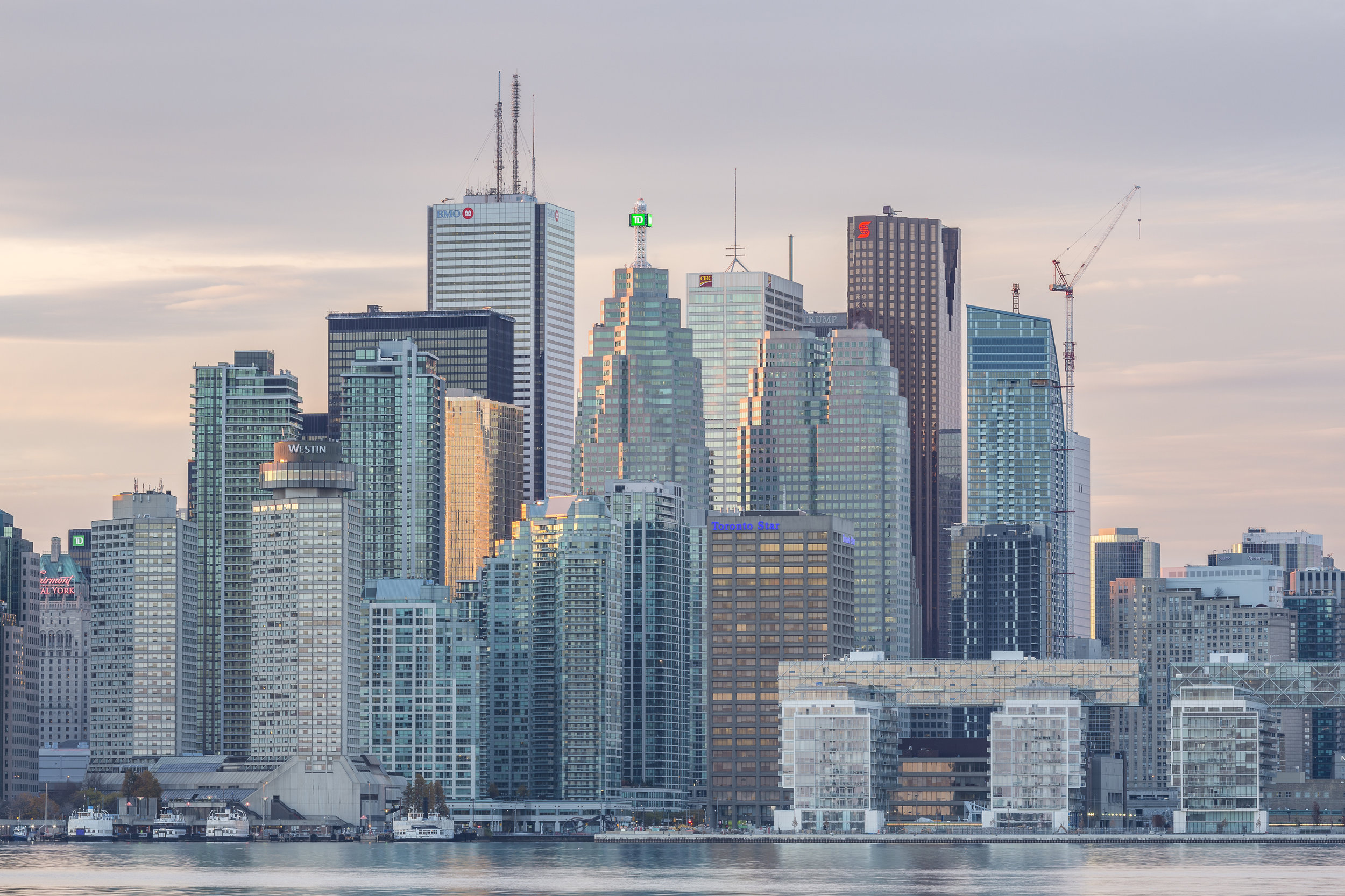 A VIEW OF TORONTO'S FINANCIAL DISTRICT FROM THE WATERFRONT    Photo Credit: licensed through shutterstock.com