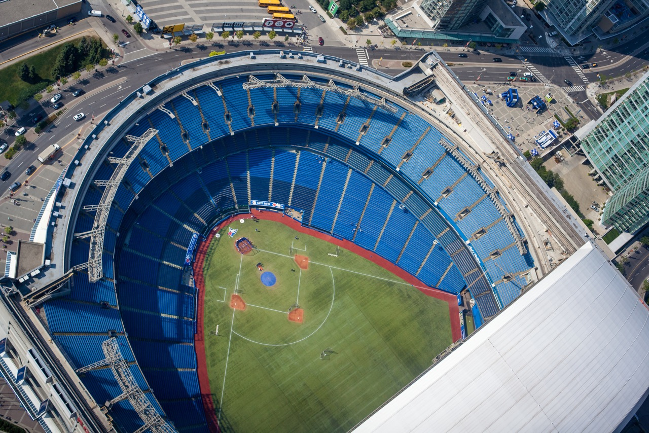 STADIUM WHERE THE TORONTO BLUE JAYS ARE BASED OUT OF   Photo Credit:   licensed through shutterstock.com