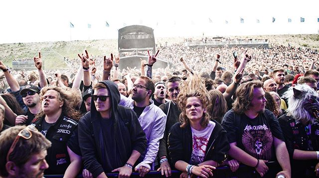 . C O P E N H E L L 2 0 1 9 // Let's start the party over in here. Let's say one picture a day from this year @copenhell 🖤 Let's start with @baestband and their amazing and dedicated crowd! . Shot for my lads at @metaladaydk 📸🏴‍☠️