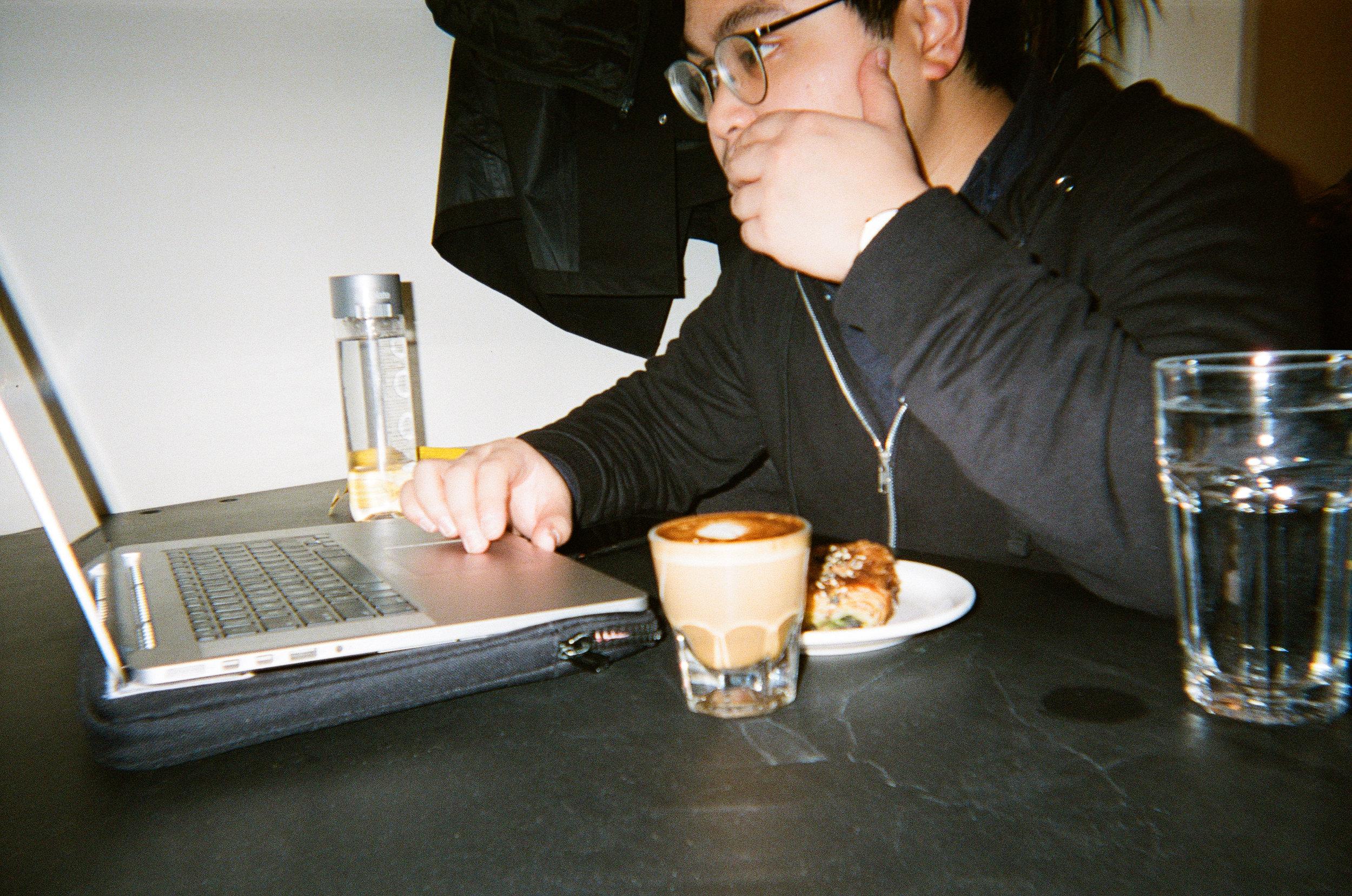 Me at Myriade - Kodak Funsaver