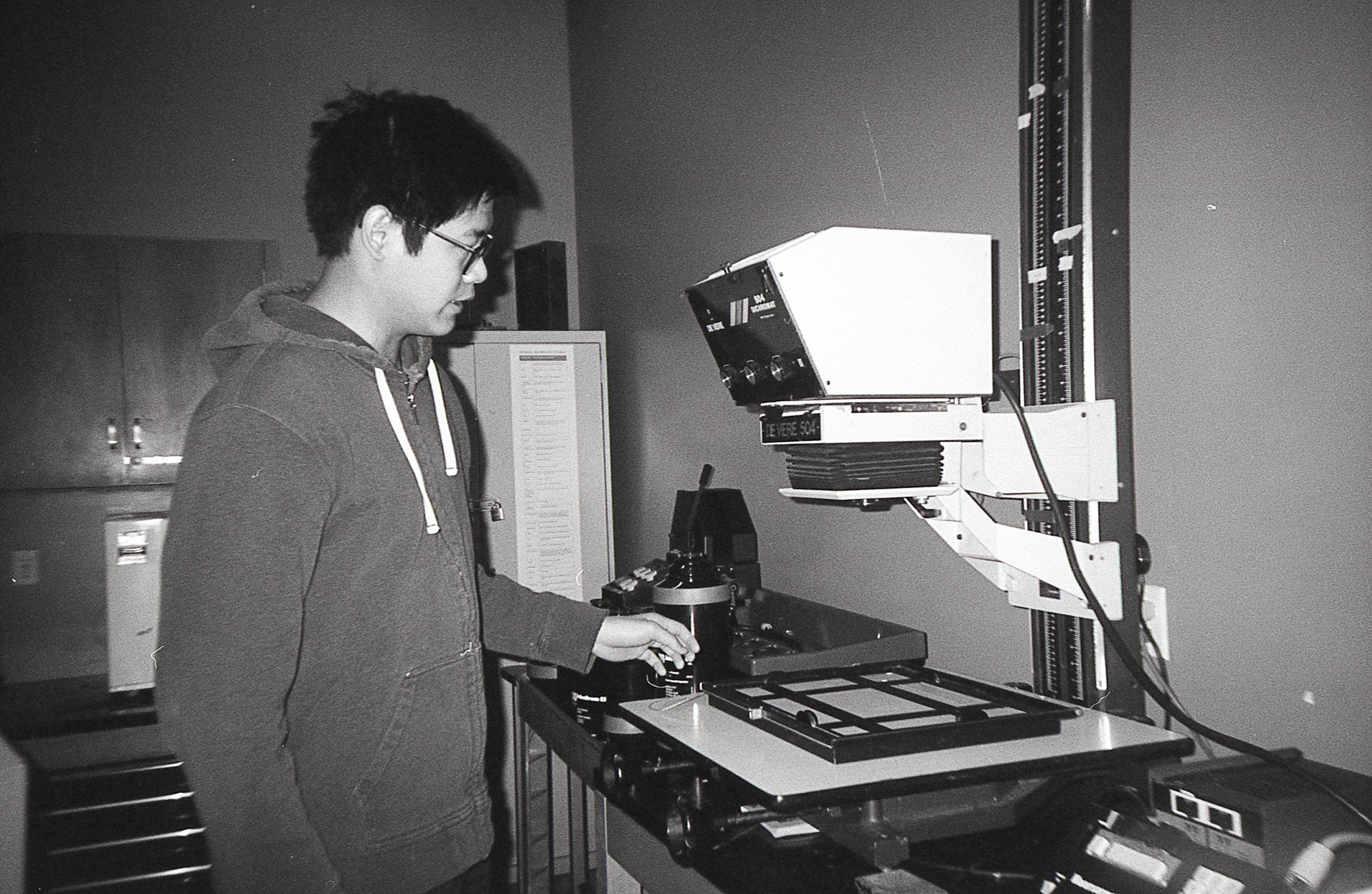 Hongen Nar in Graduate Darkroom at Ryerson School of Image Arts - Kodak Tri-X 400