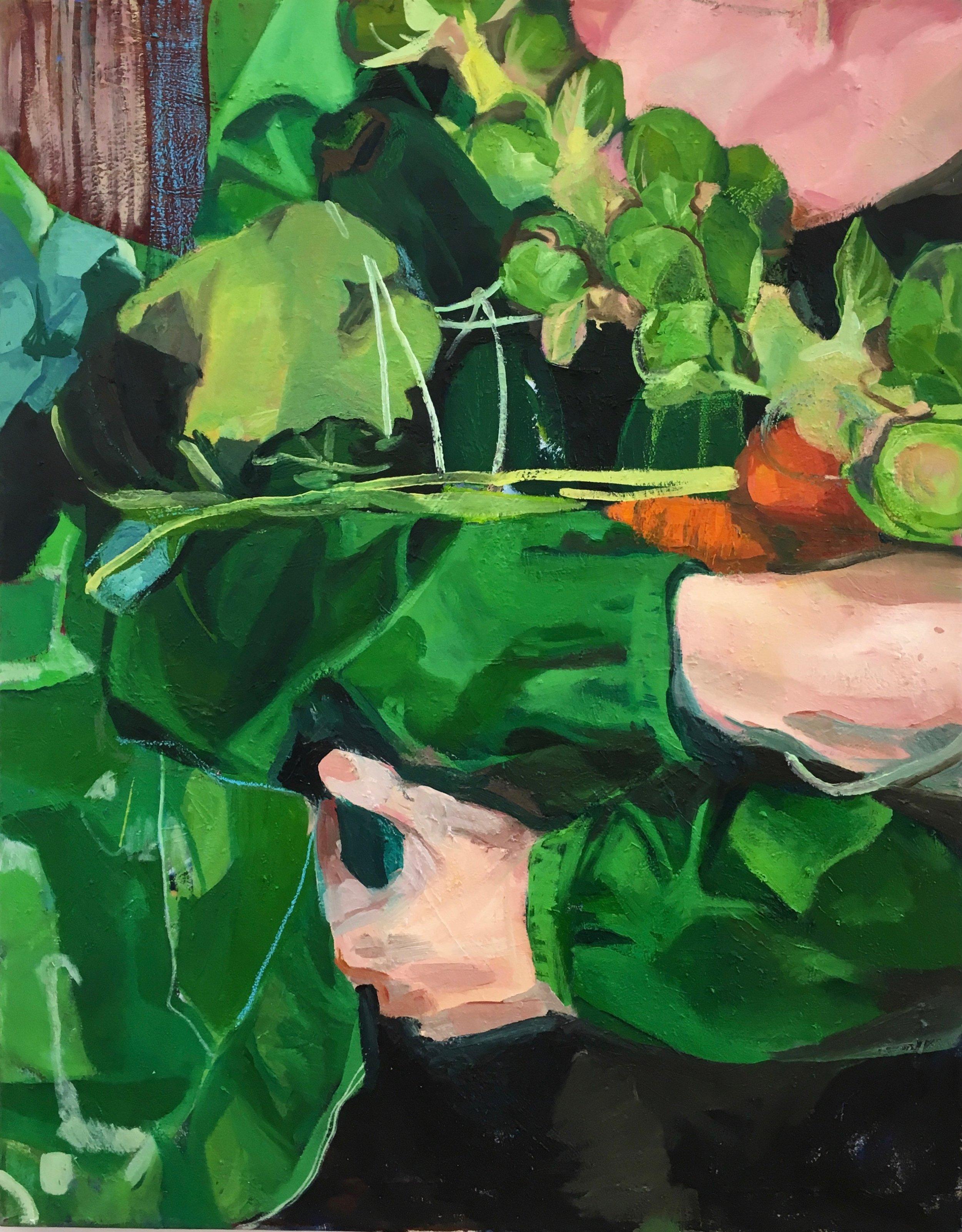 Green Garden  44 X 55 IN  Oil on canvas