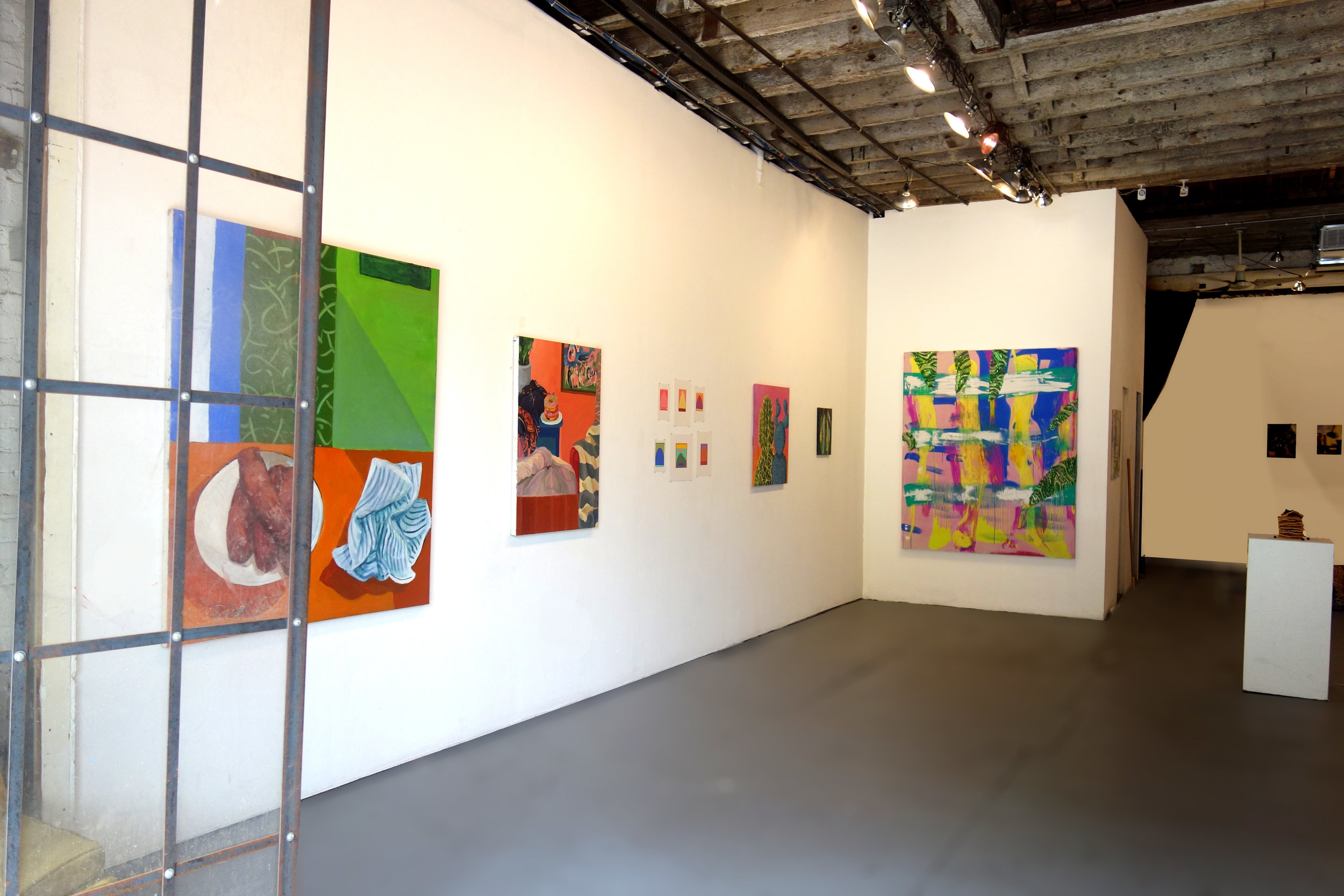 "Installation shot, ""House Broke"", 21 Frost Gallery, Williamsburg, Brooklyn"