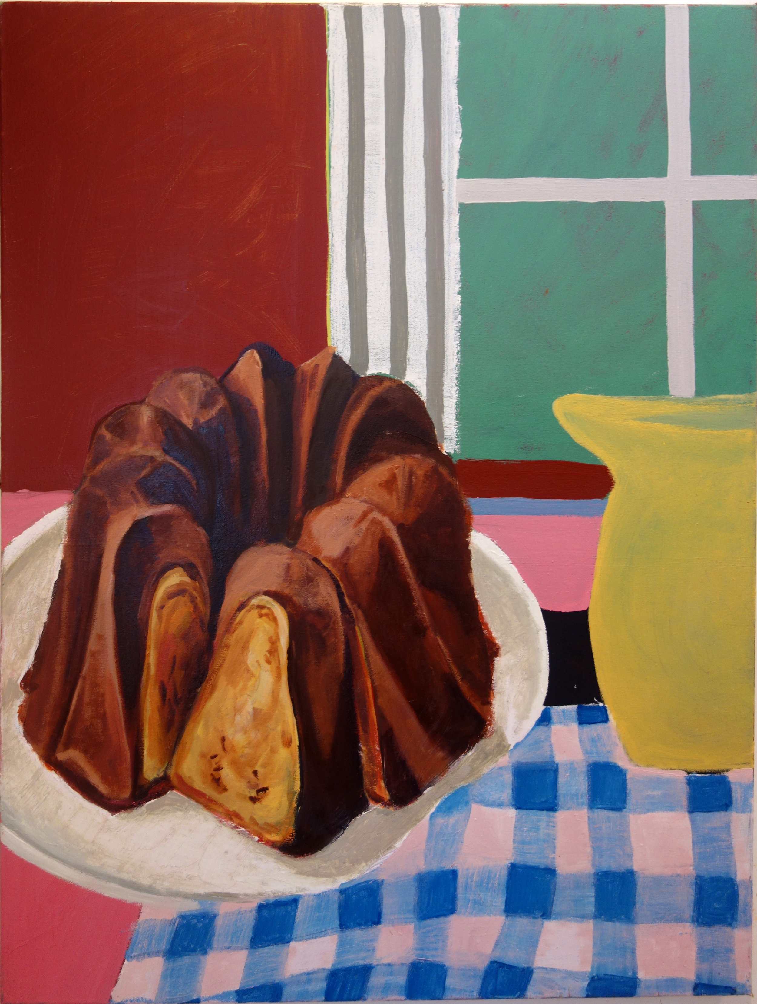 Bunt Cake Painting  30 x 40 IN  Oil on canvas