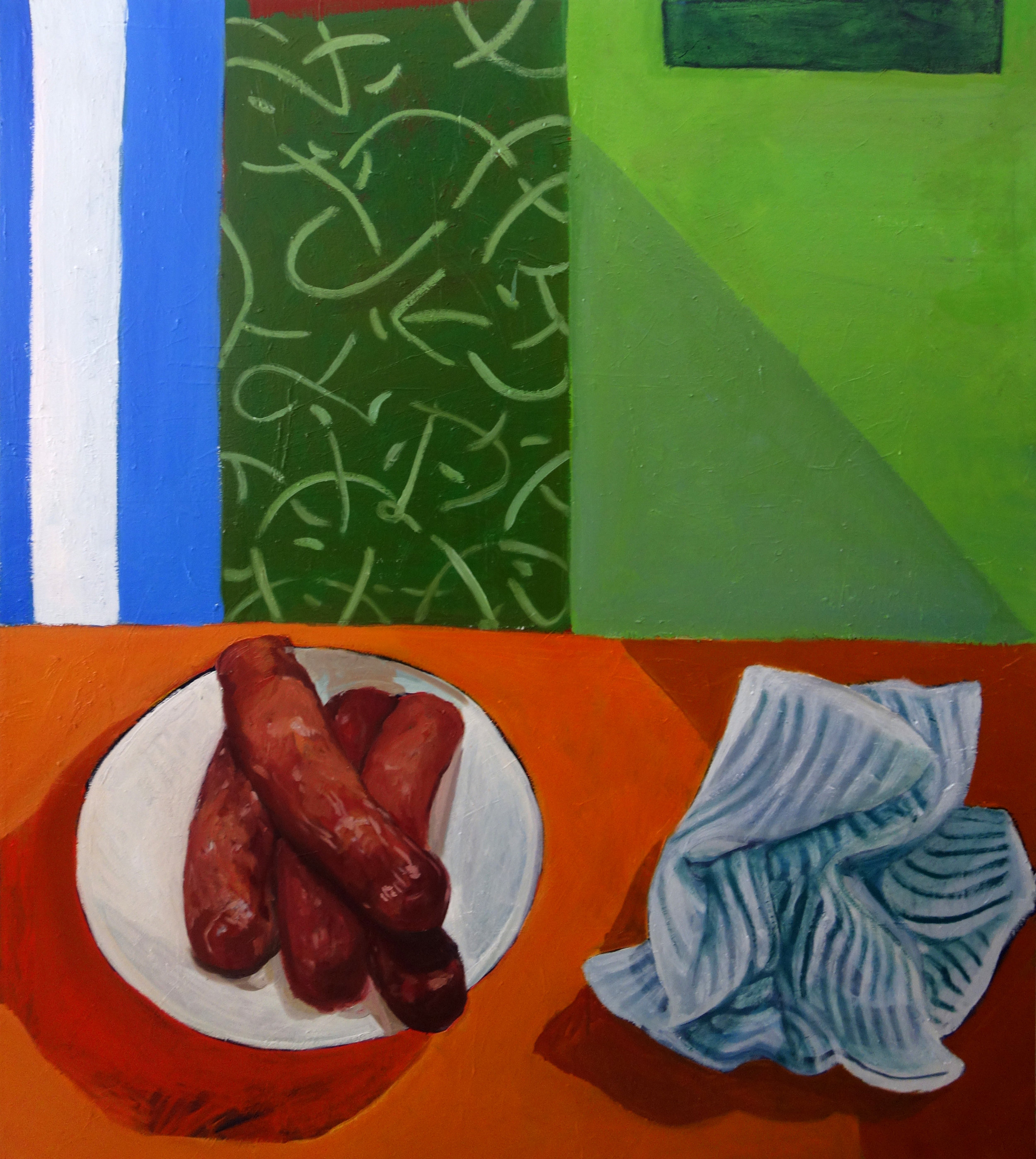 Sausage Painting  52.5 x 60 IN  Oil on Canvas