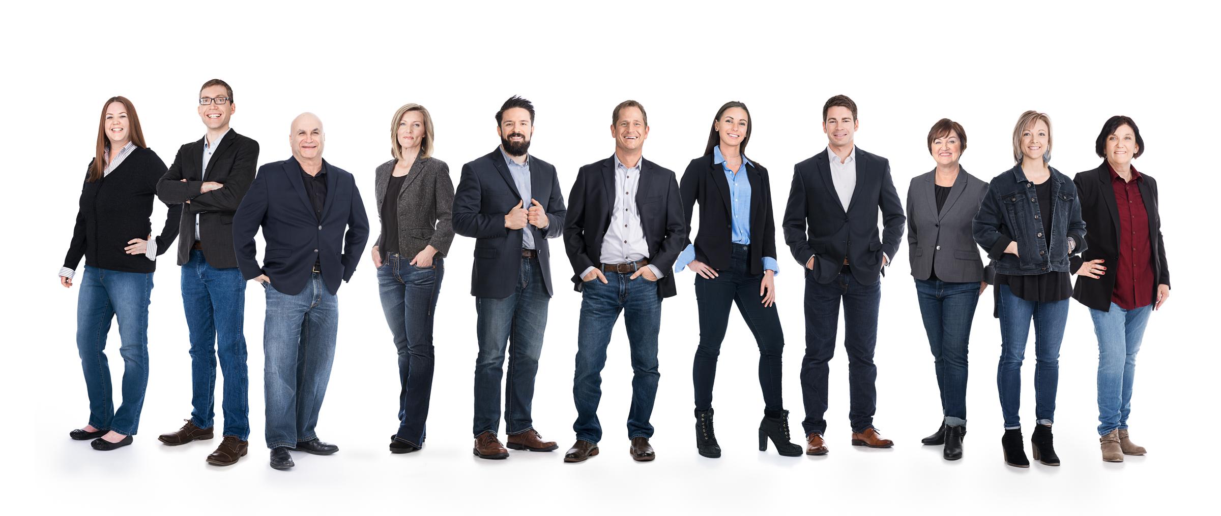 Boise corporate headshot photographer group portrait