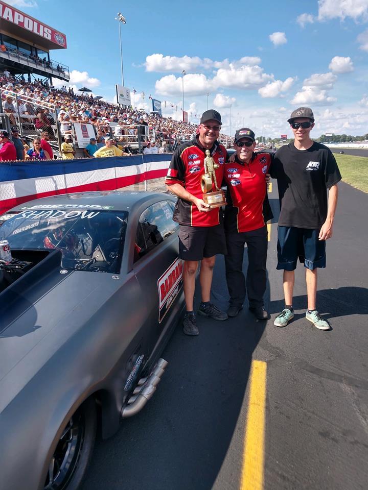 Drew (left) celebrates with Stevie (center) and Drew's son Austin (Right)