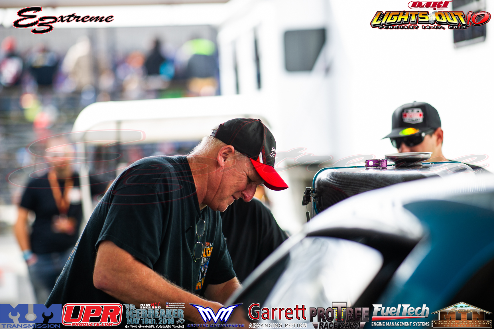 Frankie Taylor putting in work on the Speed Society backed Alex Laughlin Vette