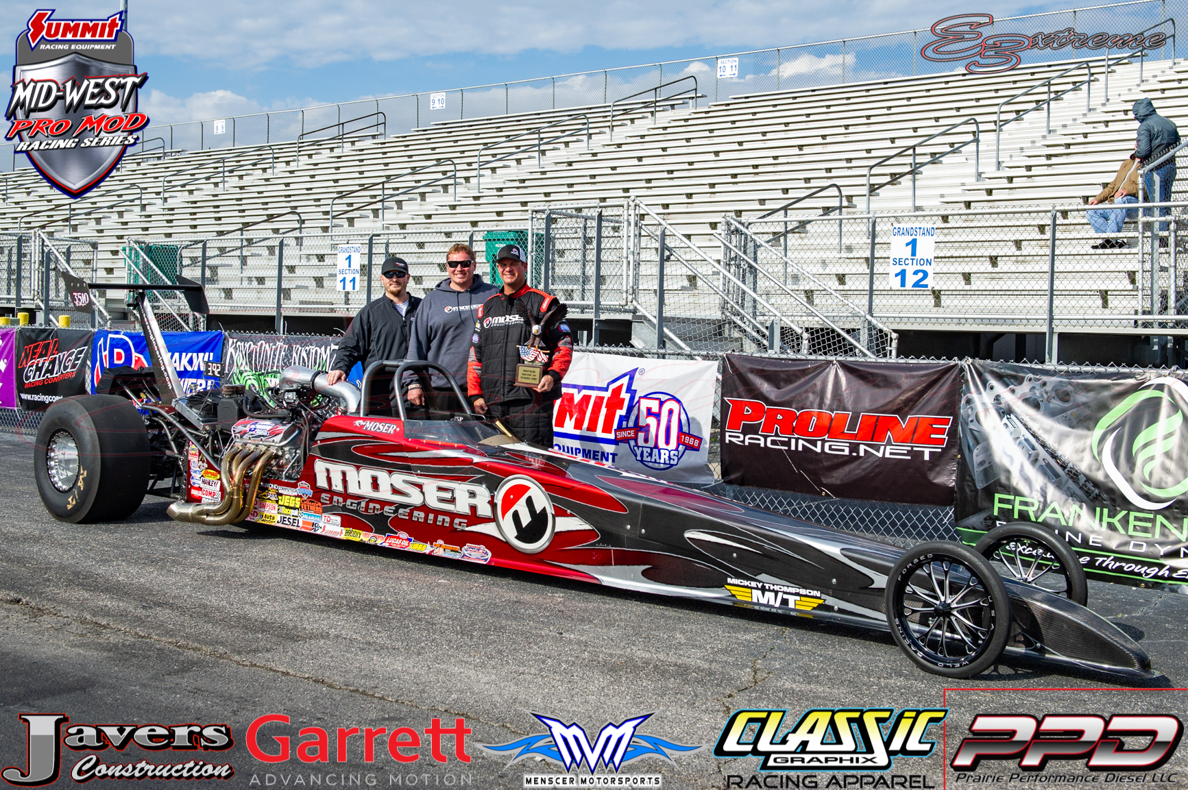 Race Star Wheels Top Dragster Winner Rob Moser