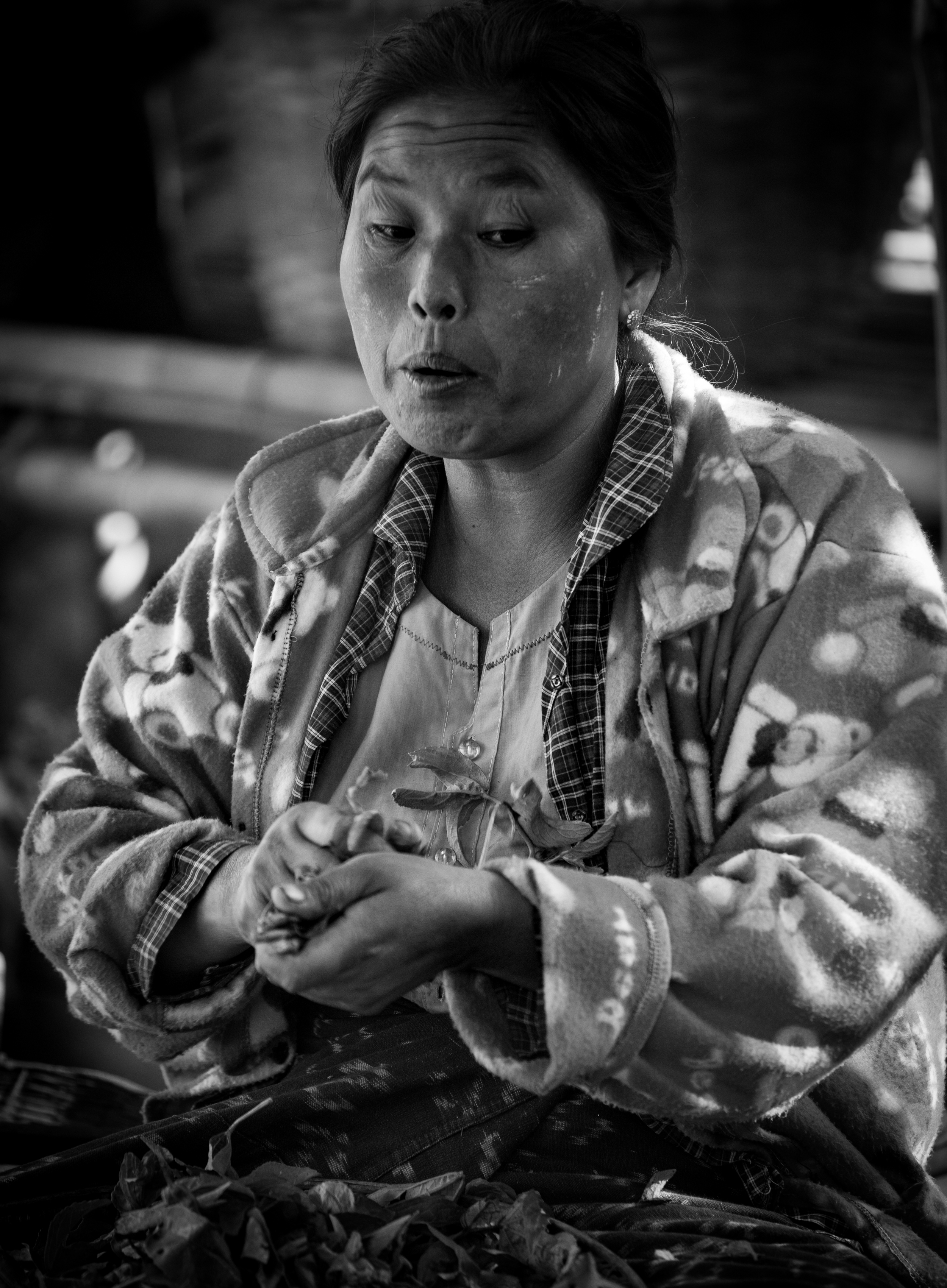 A woman in the market