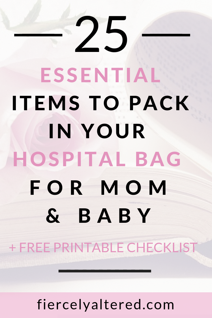 picture relating to Printable Hospital Bag Checklist named WHAT Your self Require Inside of YOUR Healthcare facility BAG + Absolutely free PRINTABLE