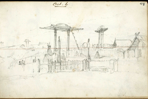 Walter Mantell, Sketch Waiateruati Pā, 1848