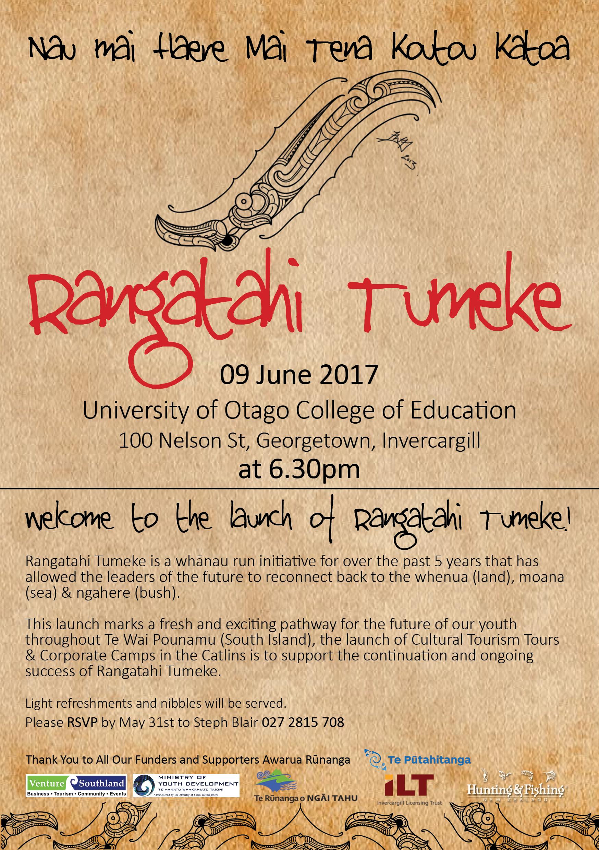 Rangatahi Tumeke Launch, Arowhenua Marae