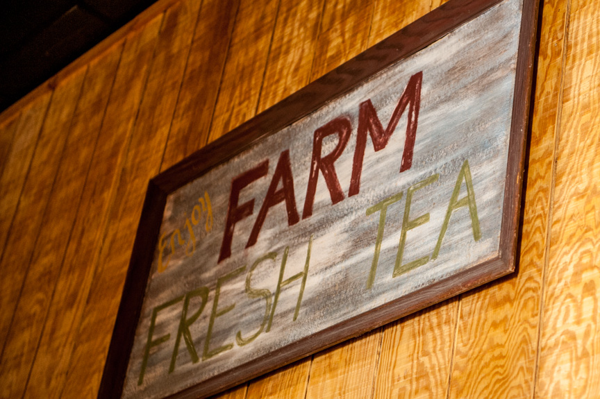 Farm Fresh Tea Sign