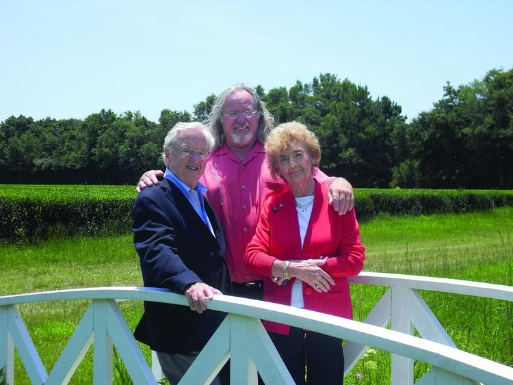 Pictured left to right: David Bigelow, Bill Hall, and Eunice Bigelow