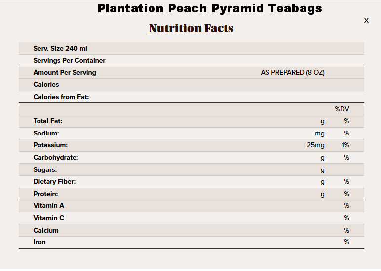 peach pyramid tea nutritional info.png