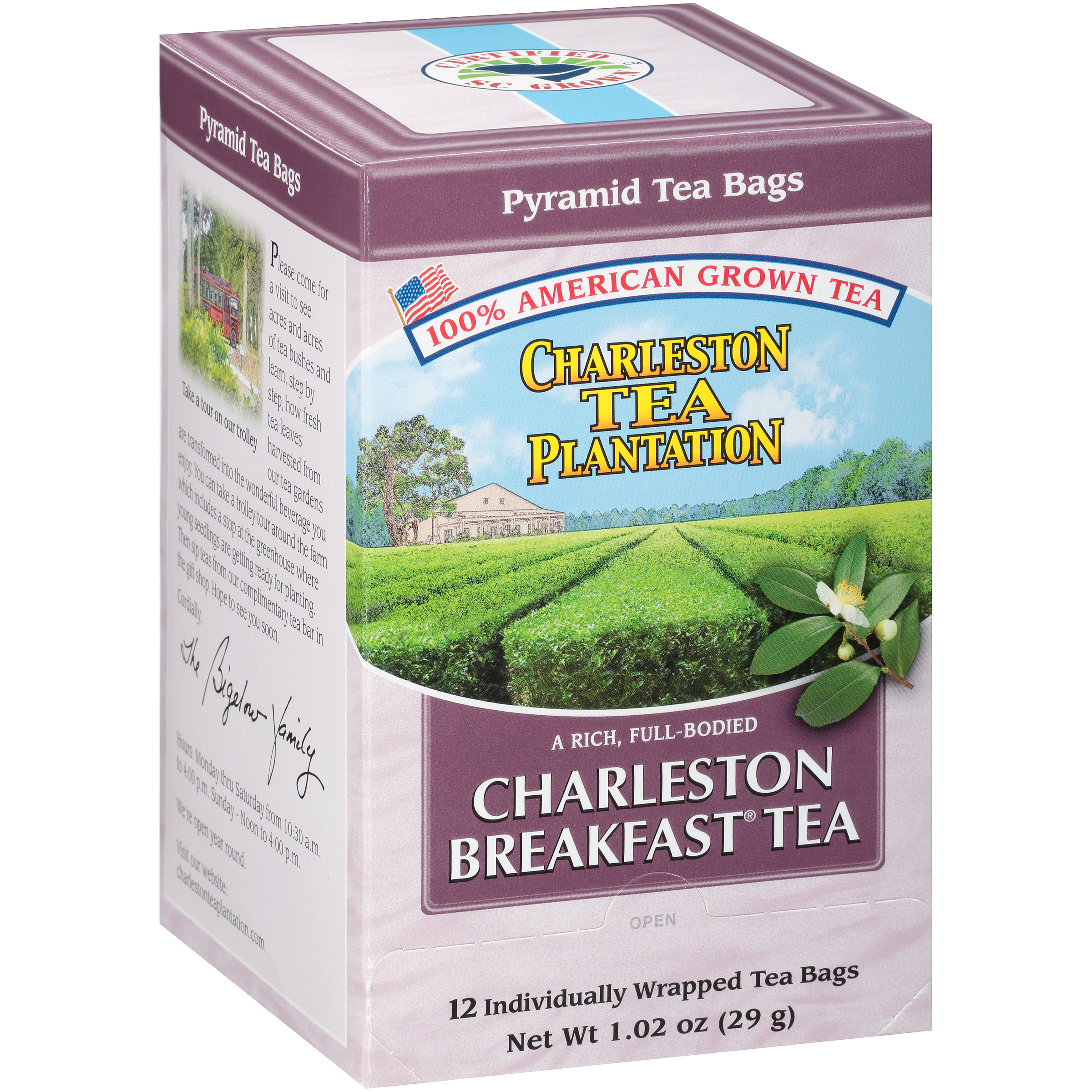 Charleston Breakfast Pyramid Teabags