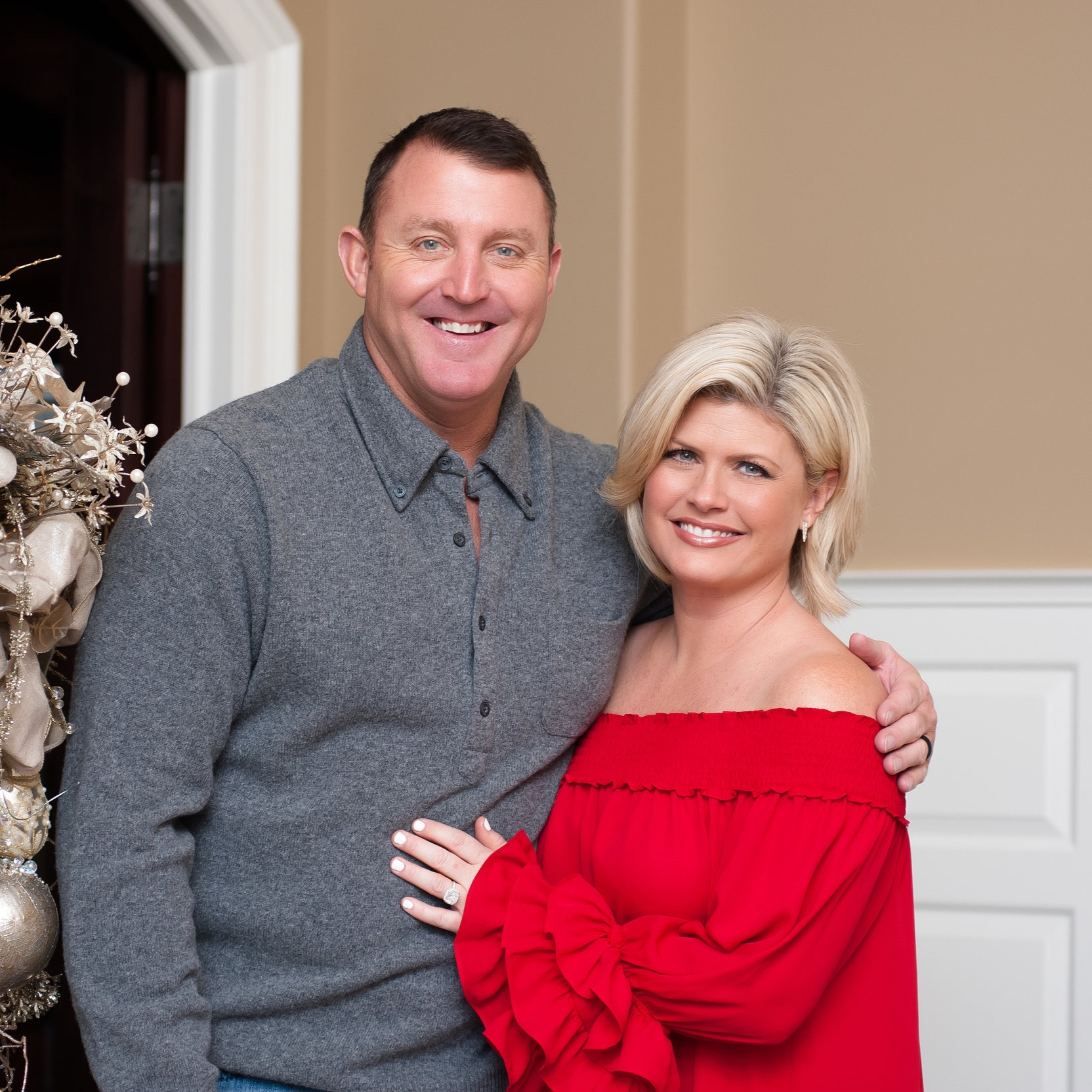MLB Hall of Famer, Jim Thome and wife Andrea Thome.
