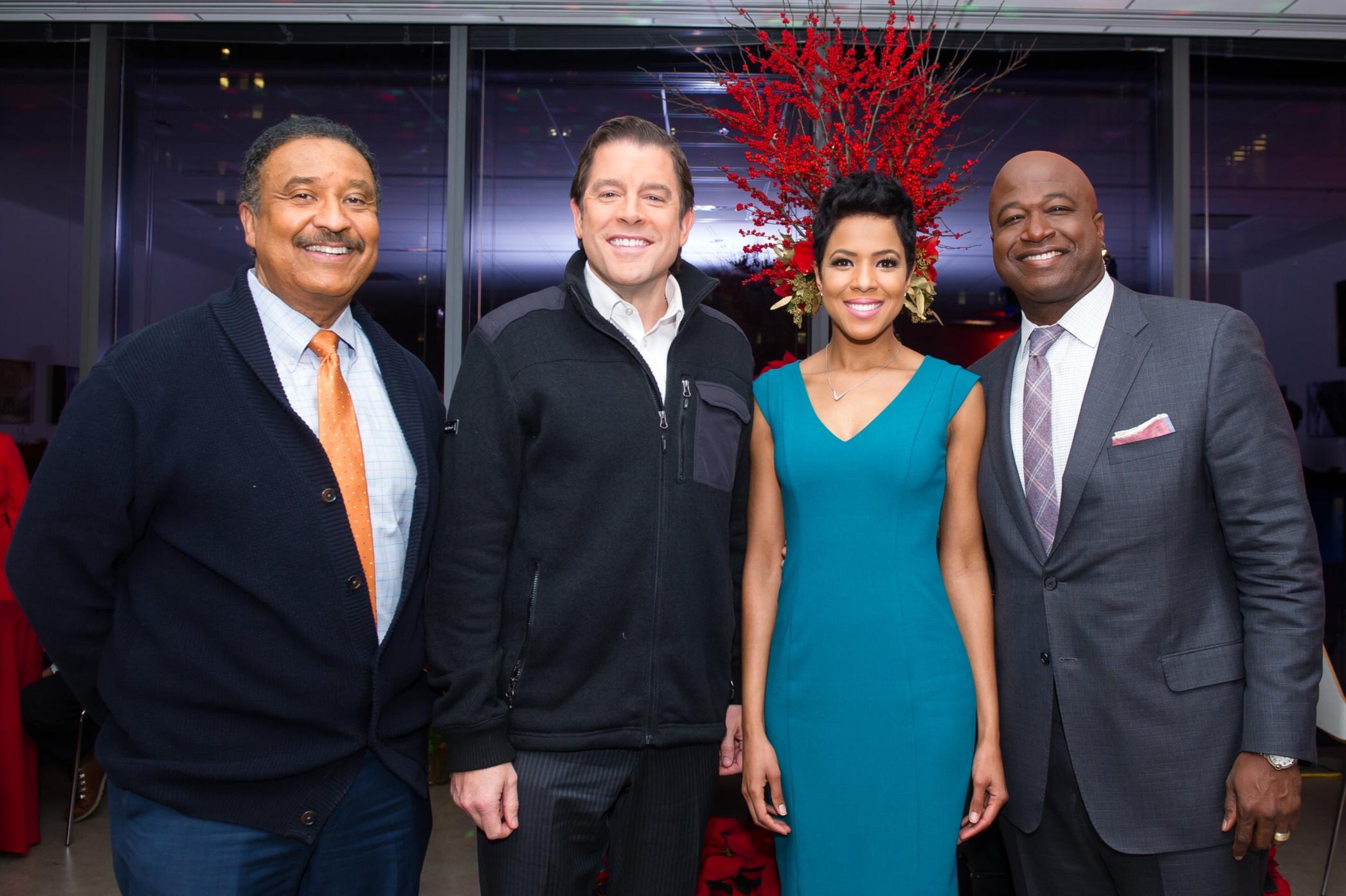 CBS News Anchors: Steve Baskerville, Rob Johnson, Irika Sargent, and Ryan Baker