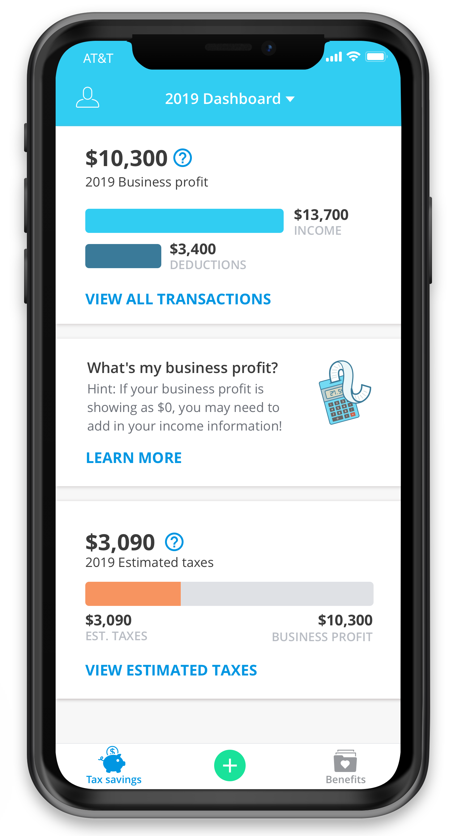 track income and estimated taxes app