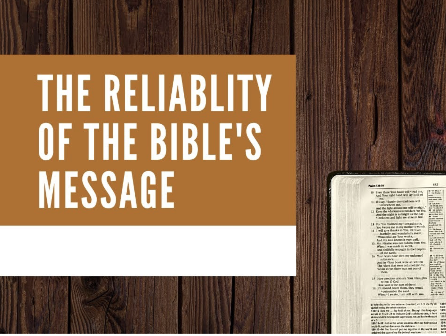 #818 - Is the Bible Reliable? Evidence...