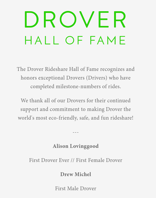 The Drover Hall of Fame site design is intentionally minimalist, in order to take no attention away from the amazing Drovers honored and recognized.