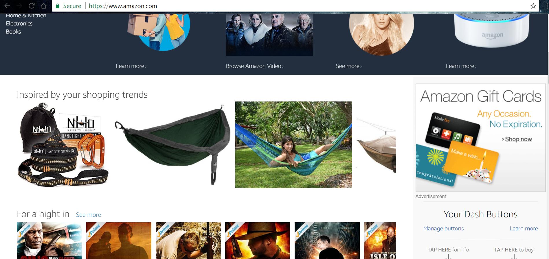 An actual screenshot of my Amazon dashboard