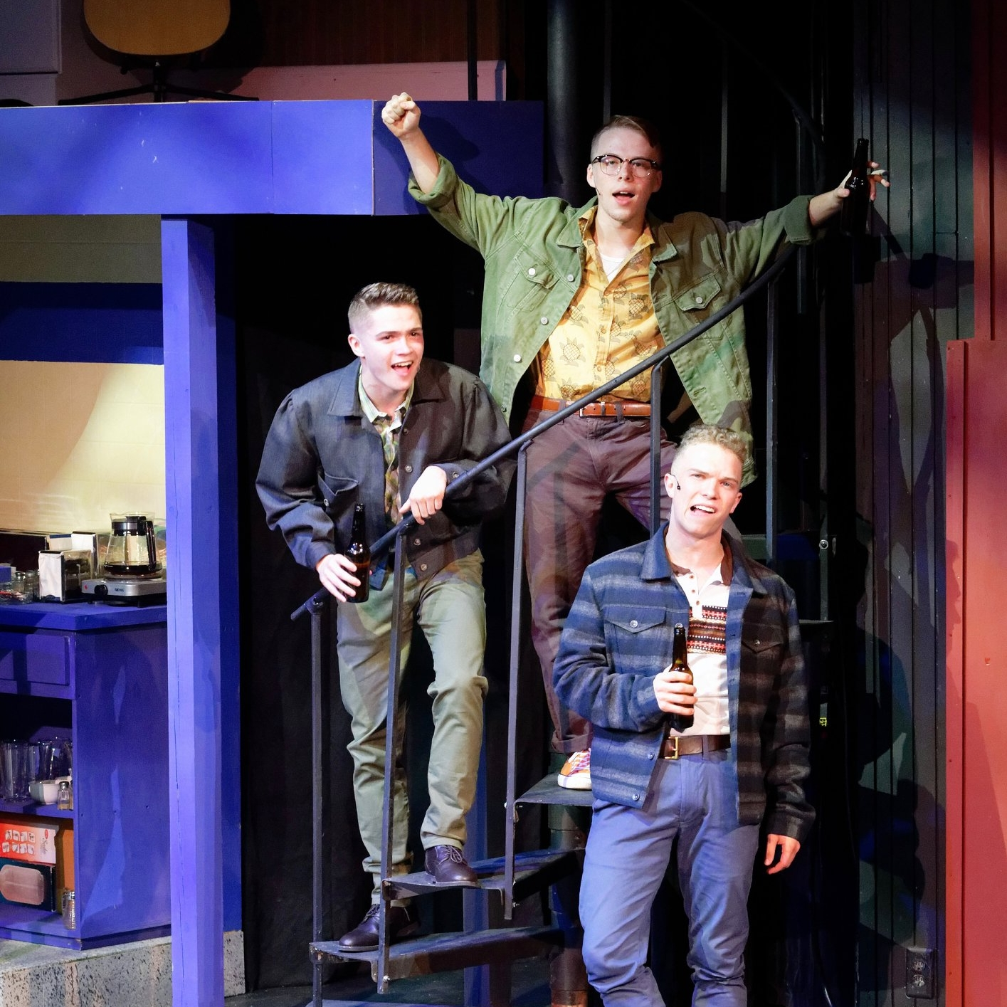 DOGFIGHT Music & Lyrics by Benj Pasek and Justin PaulBook by Peter DuchanJunior Players - Directed by Kelsey Leigh ErviMusic Directed by Mark MullinoScenic Design by Bradley GrayLighting Design by Christopher TrevinoCostume Design by Victor Newman BrockwellSound Design by Dana SilerPhotos by Junior Players