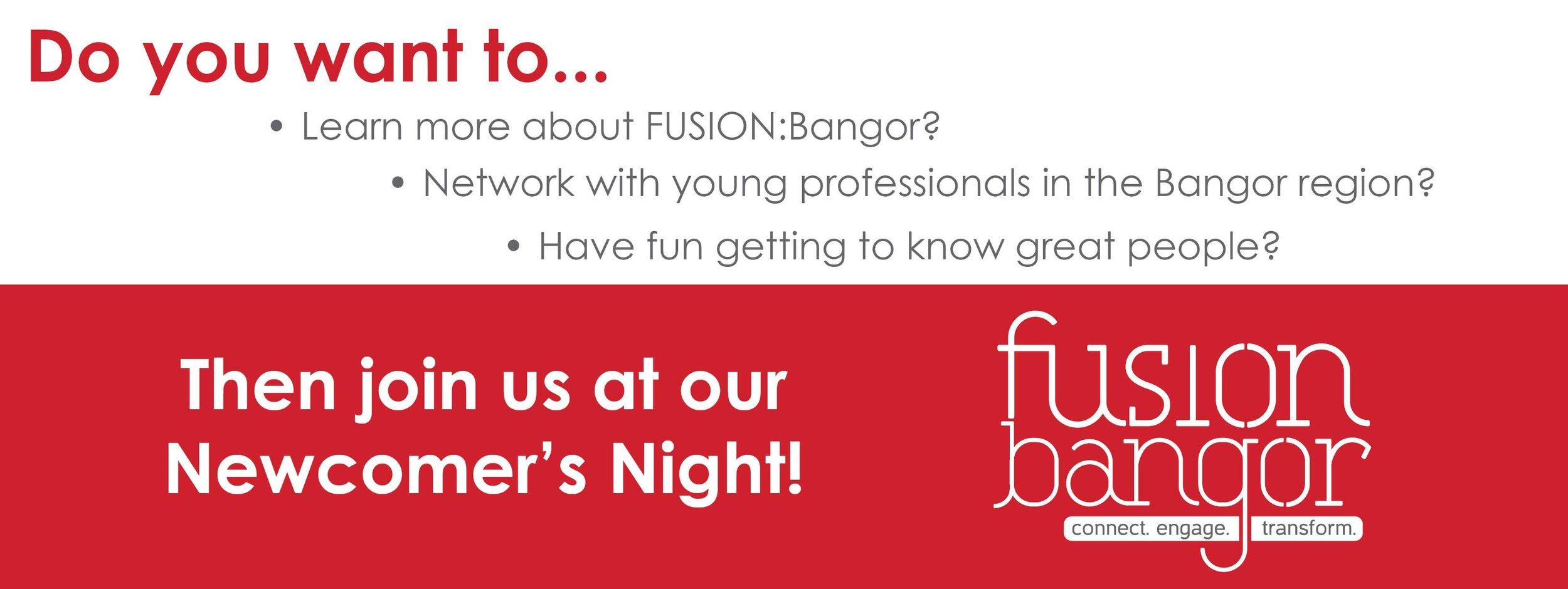 Newcomers Night - Fusion Bangor