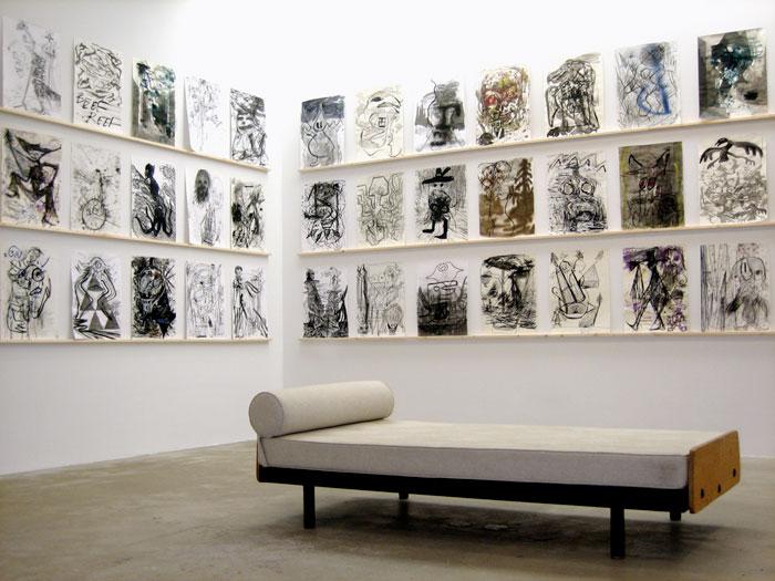 Installation view, Bill Saylor, Aidas Bareikis , STL, NY, 2012