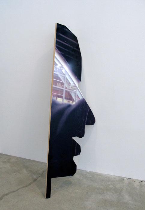 Rose Marcus, Man in look , 2012,adhesive vinyl on MDF,89 x 29.5