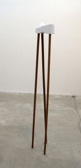 Rose Marcus, Platform L , 2012,flip flop,broom sticks,63 x 8 x 8 in