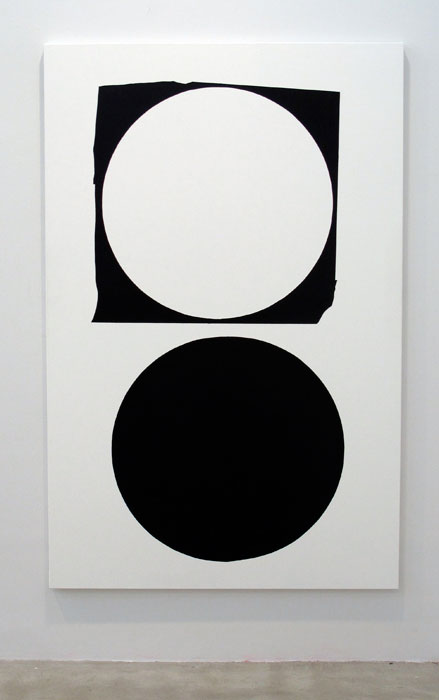 Andy Meerow, Example , 2012,wall paint and acrylic on canvas,74 x 48 in