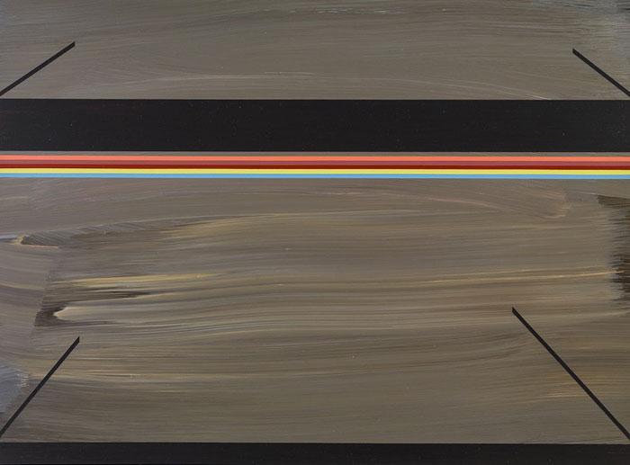 Ann Pibal, TS4N , 2012,acrylic on aluminum,14 x 19 in