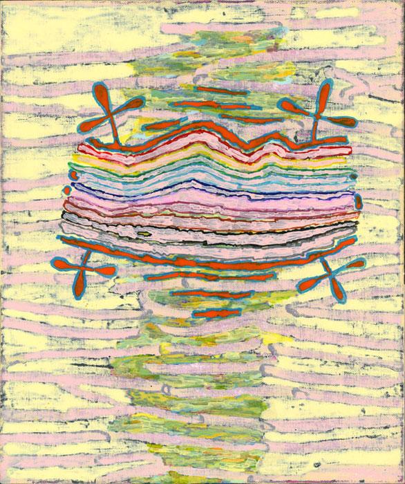 Hamlett Dobbins and Douglas Degges, Not Yet Titled , 2010, acrylic on canvas on panel,18 x 15 in