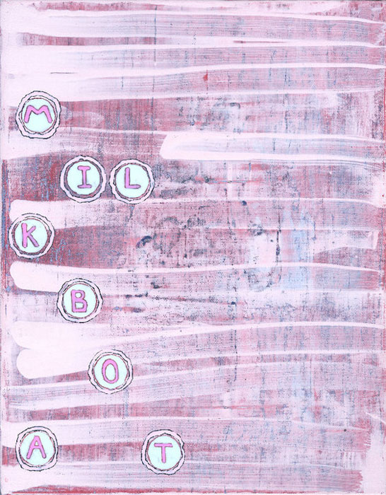 Hamlett Dobbins and Douglas Degges, Not Yet Titled , 2010, acrylic on canvas on panel,14 x 12 in