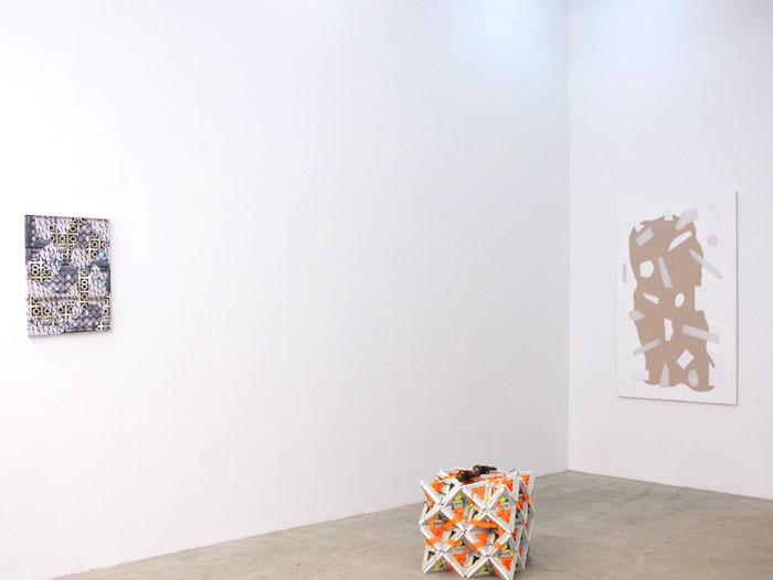 Installation view, Shaun Flynn , David Ostrowski , Max Warsh , STL, NY, 2012