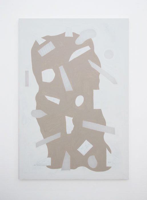 Max Warsh,  Conglomerate 01 , 2012, acrylic and photographs on vellum, 60 x 40 in