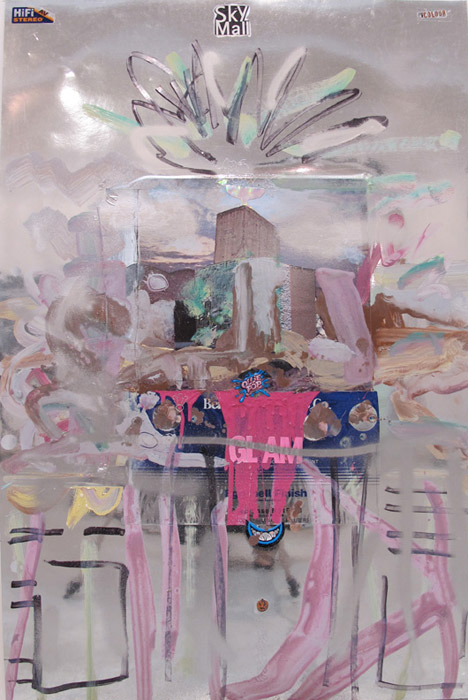 Leif Ritchey, Untitled , 2008,acrylic and collage on poster,40 x 26 in