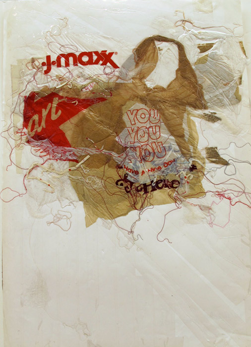Leif Ritchey,  Untitled , 2007 - 2008, mixed media and collage on poster, 35 x 23 in