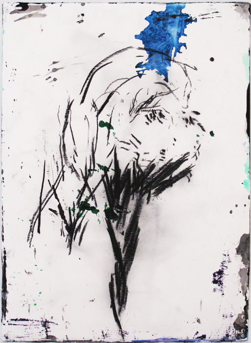 Christofer Amel,  Untitled (4) , 2012, acrylic, pencil, charcoal on Fabriano paper, 30 x 22 in