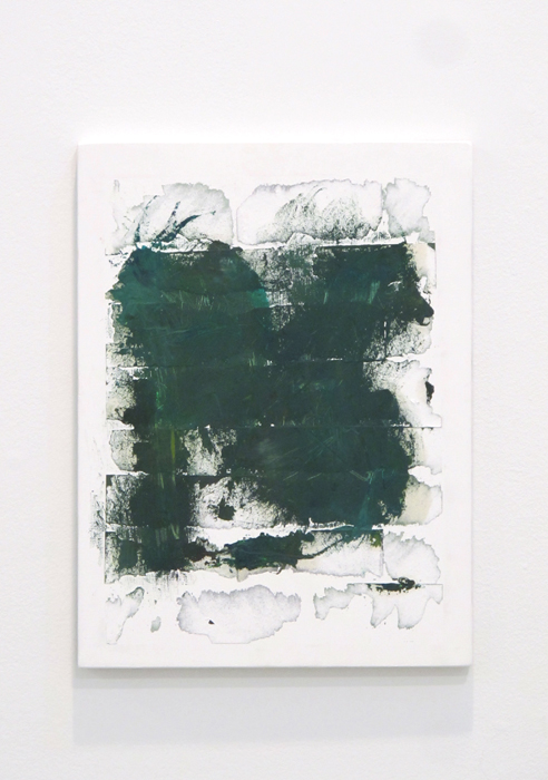 Christopher Green, To me you are always a shade of Green (revisited) , 2012, oil, paper, acrylic on birch panel, 16 x 12 in