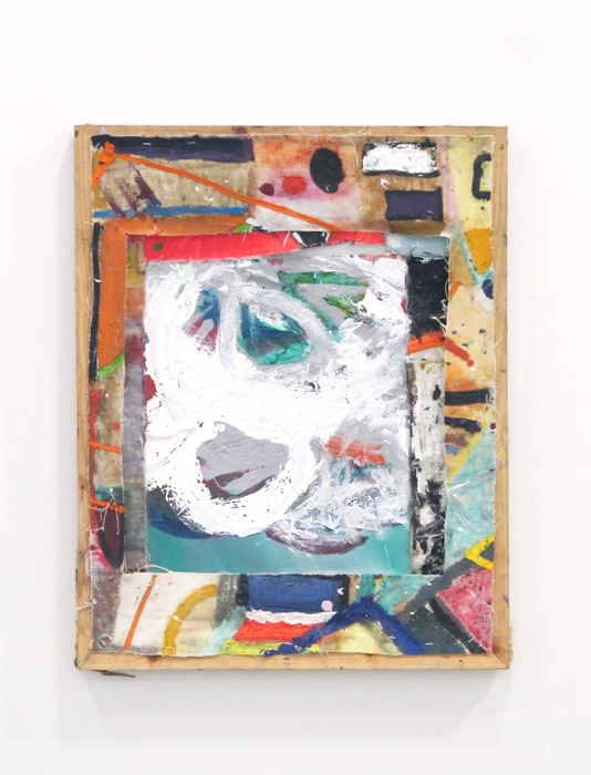 Bobby Dowler, Painting-Object_(15.12.12) , 2012, mixed materials fixed to wooden stretcher, 27.6 x 20 in